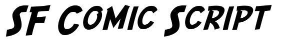 SF Comic Script font