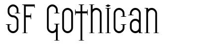 SF Gothican font