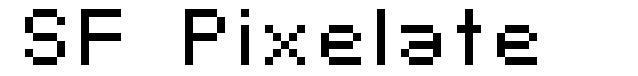 SF Pixelate font