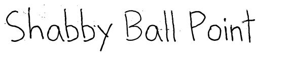 Shabby Ball Point font