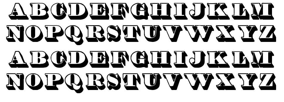 Shadded TFB font