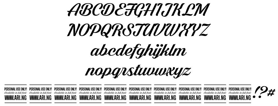Shaded Larch font