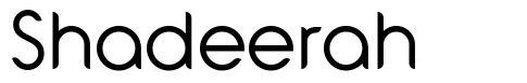Shadeerah font