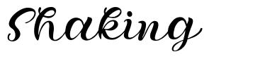 Shaking font