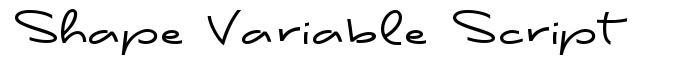 Shape Variable Script font