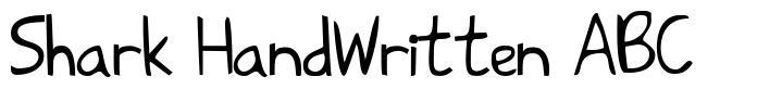 Shark HandWritten ABC шрифт