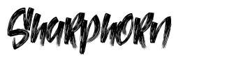 Sharphorn font