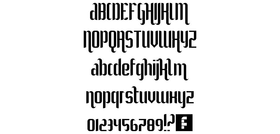 She Curls In The Mist font