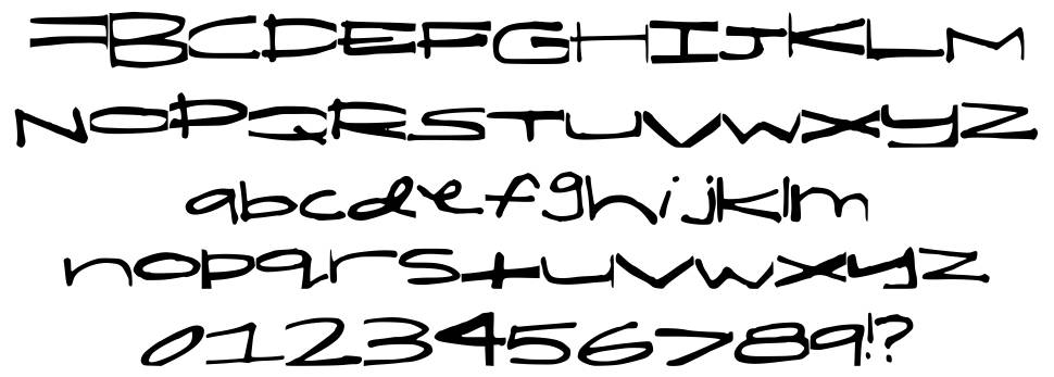 Shelby Short and Fat font