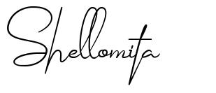 Shellomita schriftart