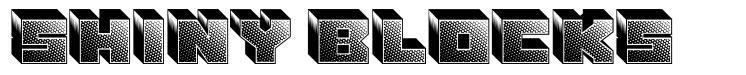 Shiny Blocks font
