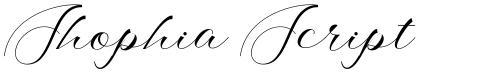 Shophia Script