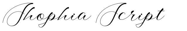 Shophia Script font