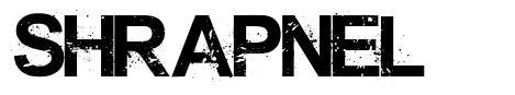Shrapnel font