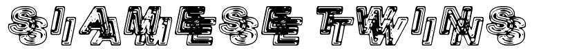 Siamese Twins font