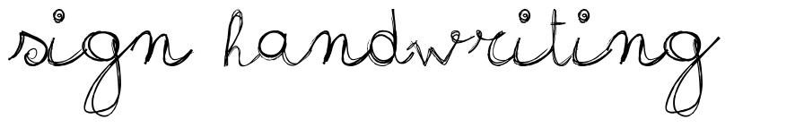Sign Handwriting font