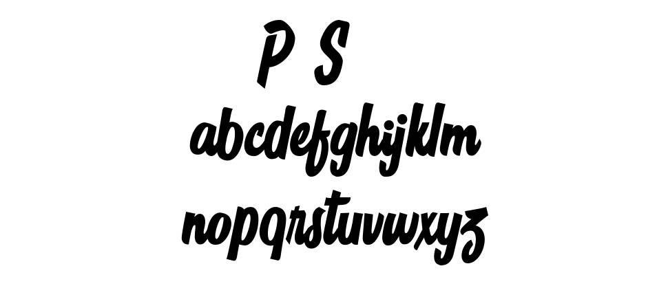 Sign Panthers Script font
