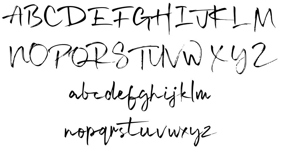 Signatime font