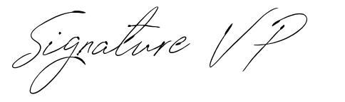 Signature VP schriftart