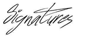 Signatures font