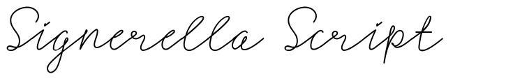 Signerella Script fonte
