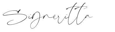 Signeritta font