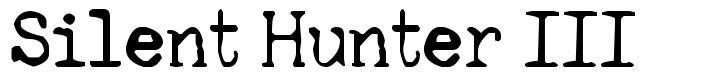Silent Hunter III font
