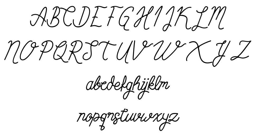 Simbok Pudjie font