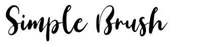 Simple Brush font