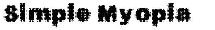 Simple Myopia font