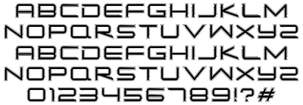 Simple Tech font