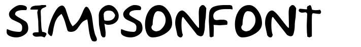 Simpsonfont font
