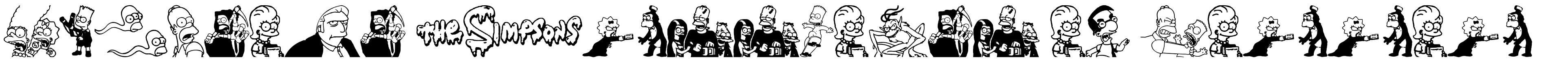 Simpsons Treehouse of Horror font
