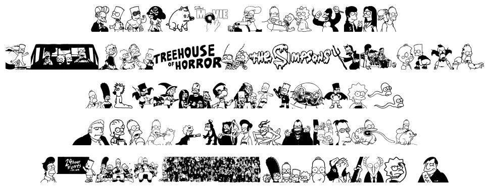Simpsons Treehouse of Horror шрифт