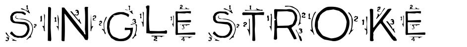 Single Stroke font