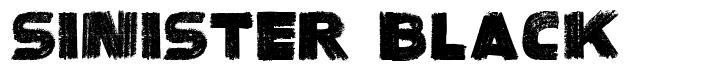 Sinister Black font