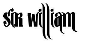 Sir William 字形