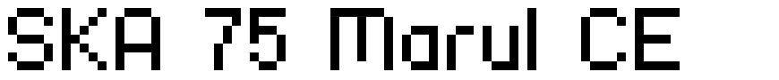 SKA 75 Marul CE font