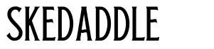 Skedaddle 字形
