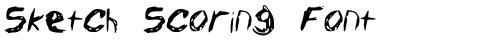 Sketch Scoring Font