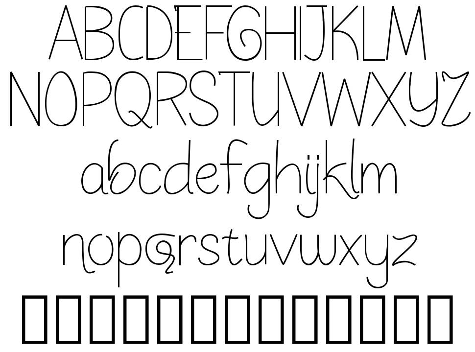 Sketchy Expectation font
