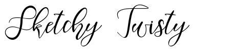 Sketchy Twisty písmo