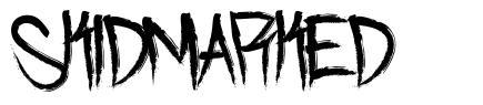 Skidmarked font
