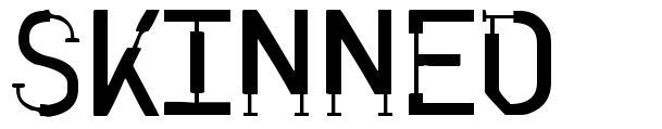 Skinned font