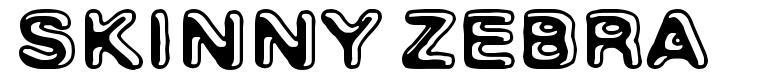 Skinny Zebra font