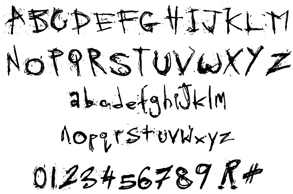 Skratchy the Spook font