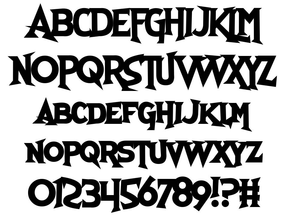 Skull and Void font