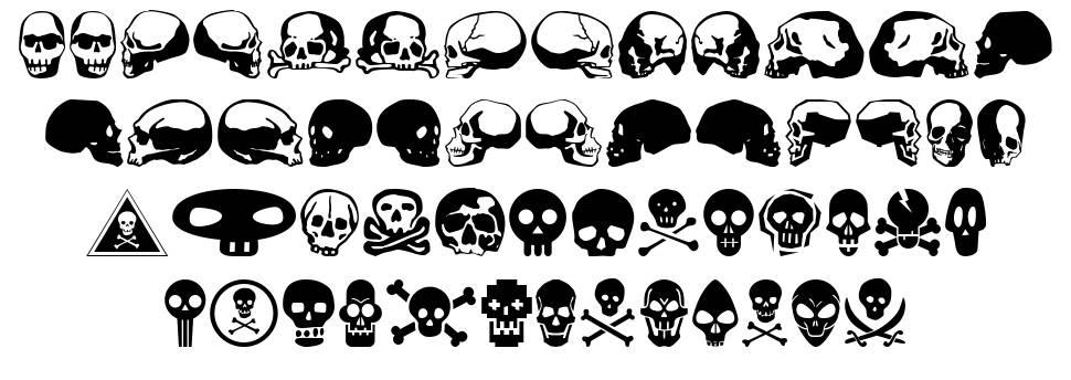 SkullBearer AOE písmo