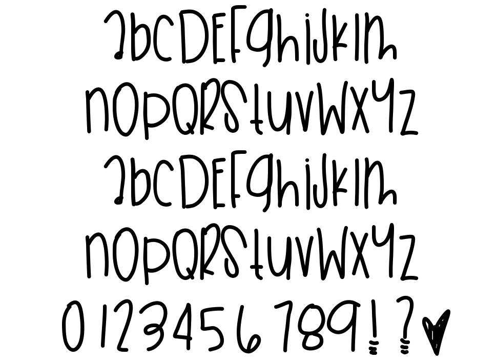 Sky Dunk Wishes font