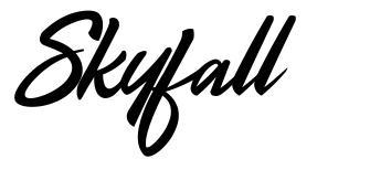 Skyfall czcionkę